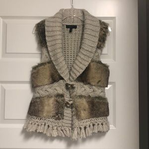Fur and sweater vest